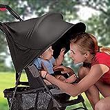 Parasol de poussette universelle pour bébé, Danolt capote imperméable pliable pour poussette, protégez vos enfants des rayons UV, noir