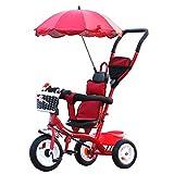 XXW Poussette Poussette Bébé 8 Mois -5 Ans Tricycle pour Enfants avec Parasol...
