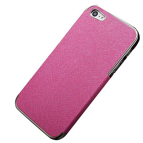 Luxury Leder Tasche Case Etui Schale Rückschale für iPhone 5/5G/4S/4 (für iPhone 4G/4S, Goldig/Schwarz) Silbrig/Rose