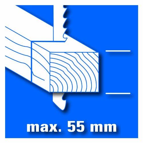 Einhell Stichsäge BT-JS 400 E (400 W, max. 55 mm, 45° Schrägschnitt, inkl. Sägeblatt für Holz, Absaugadapter) - 6