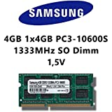 Samsung 4GB (1x 4GB) DDR3 1333MHz (PC3 10600S) SO Dimm Notebook Laptop Arbeitsspeicher RAM Memory