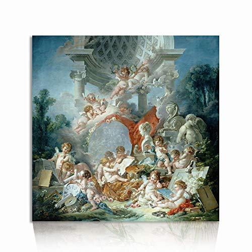 Hermoso Bebé Lindo Feliz Ángeles encantadores Impresiones de la Pintura óleo Sobre Lienzo Cristianismo católico Resumen Arte Pared Decoración para Oficina casa Sala de Estar Dormitorio Cocina