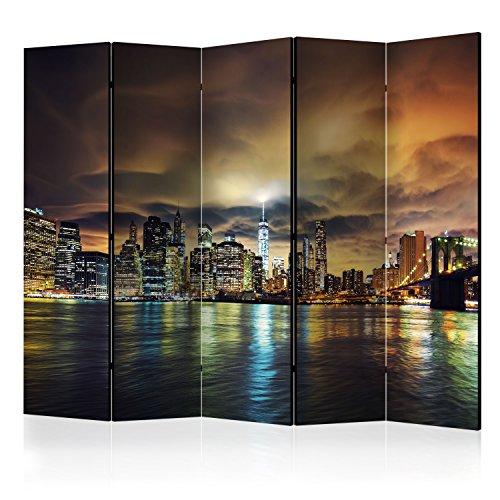 murando Paravent 225x172 cm Une Seule Côté Impression sur Toile intissée 100% Opaque Foto Paravent Décoratif en Bois avec Interieur Impression d-B-0085-z-c