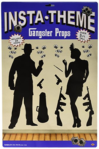 Beistle 52050 Gedruckte Gangster Stützen, 2