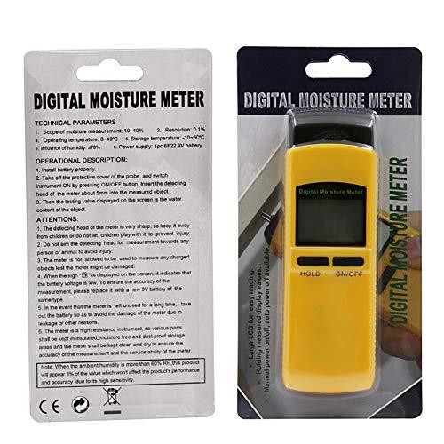 MeterMall Electrónica para Medidor de Humedad de Madera de inducción Digital 0~50% Probador de Contenido...