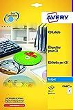 Avery Zweckform Etiketten Inkjet/Laser Kopier 117mm CD VE=50 Stück weiß