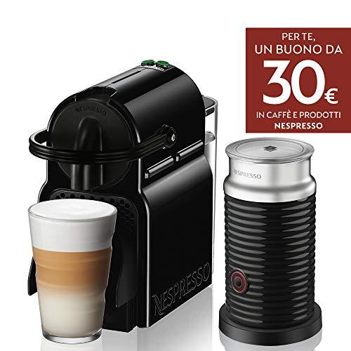 Nespresso Inissia & Aeroccino EN80.BAE Macchina per Caffè Espresso, Black