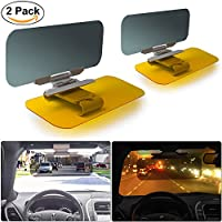 Car Anti-Glare Windshield Extender – 2 Pack Lvyleaf 2-in-1 Day and Night Anti-Dazzle Car Visor Adjustable Universal Car Sun Visor