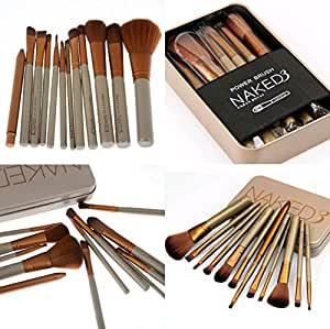 Urban Decay Cosmetic Makeup Brush Set with Storage Box, Set of 12