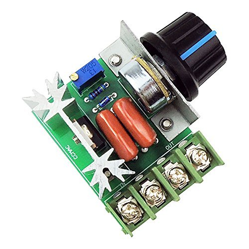 uniquegoods AC 50-220V 2000W(max) 25A SCR Constant Voltage AC Motordrehzahlsteuer LED Dimmer (Ac-motor)