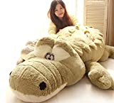 Crazy lin Füllte Plüsch-Krokodil Spielzeug weichen Boyfriend-Kissen-Kissen für Boden Bett Sofa avaliable in 2 Farben (grün und grau) (grün)