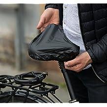 Impermeable Sillín, impermeable Protección para sillín con gomas y bolsa de transporte para bicicleta, Mountain Bike, mujer Cilindro de Negro