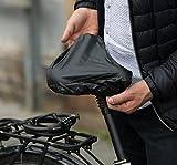 Sattelbezug,Wasserfester Sattelschutz mit Gummizug für Rennrad, Mountainbike, Damenrad Schwarzer