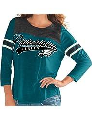 "Philadelphia Eagles Women's G-III NFL ""Touchdown"" Dual Blend 3/4 Sleeve T-shirt Chemise"