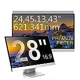 C1st 28 Zoll 16:9 Displayfilter Anti-Peeping Blickschutzfilter Sichtschutz Sichtschutzfolie 24,45x13,43zoll/621x341mm Strahlenschutz Blendschutz Computer Bildschirm Displayschutz