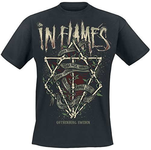 In Flames Jester Bones T-Shirt nero M