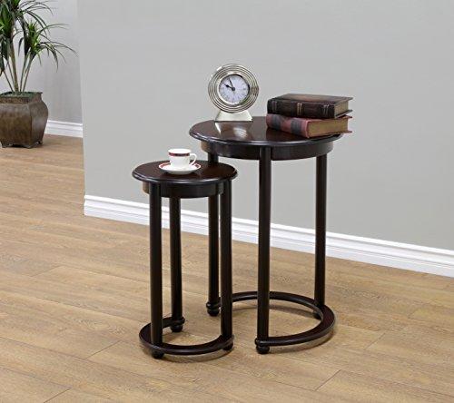 Frenchi Home Innendekoration Satztische Nesting Tables (Set von 4), braun, 2piece (Holz Nesting Tables)