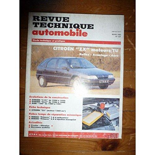 RTA0537 - REVUE TECHNIQUE AUTOMOBILE CITROEN ZX Reflex - Avantage - Aura (moteurs TU)