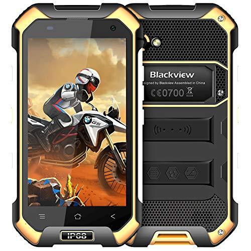 4G imprägniern Handy, Blackview BV6000S IP68 Outdoor Smartphone, 2GB RAM + 16GB ROM,stoßsicher Staubdicht entsperrtes Telefon mit Kamera 8MP + 2MP, Doppel-SIM Karte/NFC/GLONASS - Gelb (Entsperrt Smartphone Mit Sim-karte)