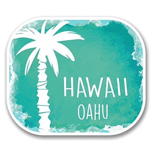 Preisvergleich Produktbild 2 x Oahu Hawaii USA Flagge Vinyl Aufkleber Aufkleber Laptop Reise Gepäck Auto Ipad Schild Fun 6313 - 15cm / 150mm Wide
