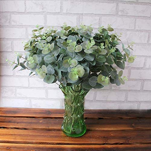 Bobopai Artificial Fake Leaf Eucalyptus Leave Simulation Leaves Great for Wedding Party Home Decor -