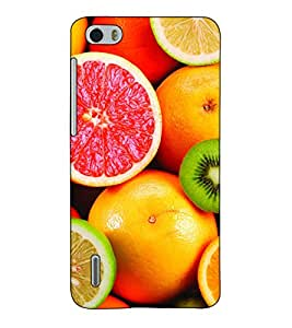 Fuson Designer Back Case Cover for Huawei Honor 6 (Fresh Oranges & Lichy Theme)