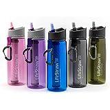 Lifestraw Go 2-Stage Filtration. Wasserflasche mit 2-stufiger Filtration - Aktivkohle entfernt Bakterien & Protozoen. Reduziert Chemikalien und schlechten Geschmack