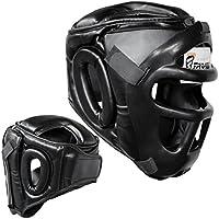 Farabi Sports Casco Protector de Boxeo de Piel auténtica, Talla S