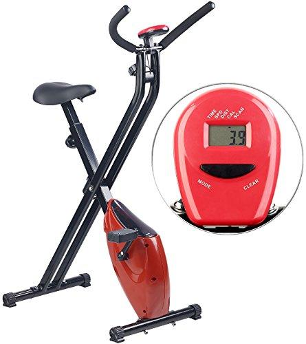 fitne fahrrad PEARL sports Trainingsgeräte: Klappbarer Heimtrainer mit Trainings-Computer, 1,6 kg Schwungmasse (Sportgerät)