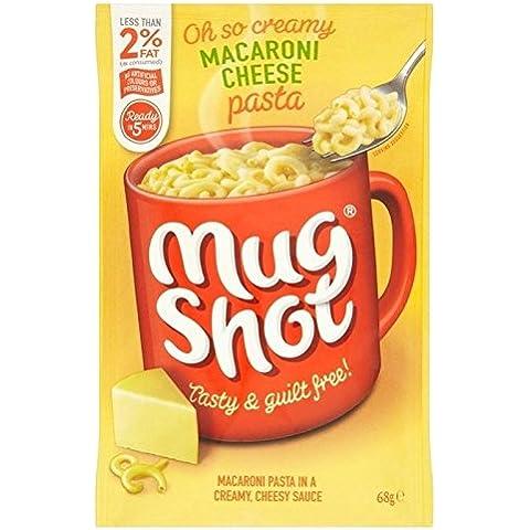 Mug Shot Macarrones Con Queso De Pasta 45g (Paquete de 2)
