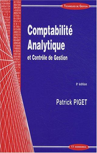 Comptabilite Analytique, 6e ed.