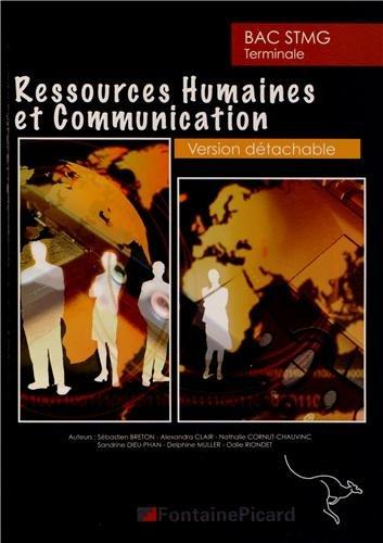 Ressources humaines et communication Tle STMG : Enseignement de spécialité