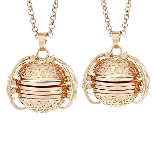 ToDIDAF Expanding Photo Locket, Necklace Pendant, Angel Wings, Pretty Jewelry Decoration, Pefect Gift for Children's Day (Pack of 2, Rose Gold) Oval Tray-rack