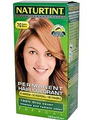 Naturtint Coloration capillaire naturelle permanente - Ingrédients bio - 100% couvrant - Couleur 7G Blond doré