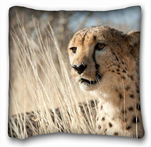 Dekorative Baumwollleinen, quadratisch Tiere Cheetah Familie Drei Mother Mum Kätzchen 45,7x 45,7cm Zwei Seite, Polyester-Mischgewebe, Muster 9, European