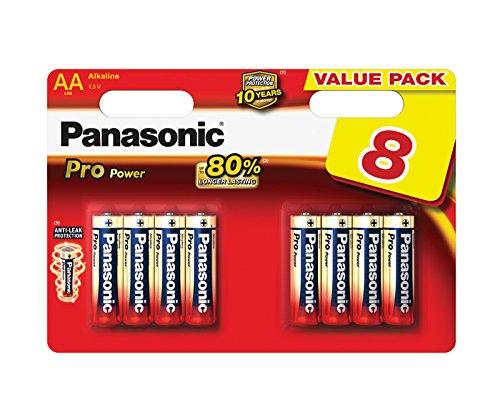 Panasonic Pro Power LR6PPG/8BW Pile Alcaline