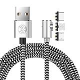 Ugi® L Kabelaufladung Typ C Magnet USB C Micro USB Blitz L-Form 90 Grad rechtwinklig 3.3ft/6.6ft/10ft Kabel Schnelllade-Magnet für Phone Xs Max Xr X,8,7,6 Plus Samsung Galaxy S5,S7,S8,S9 Lot