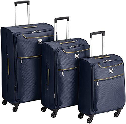 HAUPTSTADTKOFFER - MITTE light 3er Koffer-Set Weichgepäck Trolley Softcase (S,M & L), Blau