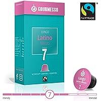Gourmesso Lungo Latino Mezzo - 10 Nespresso kompatible Kaffeekapseln - Fairtrade