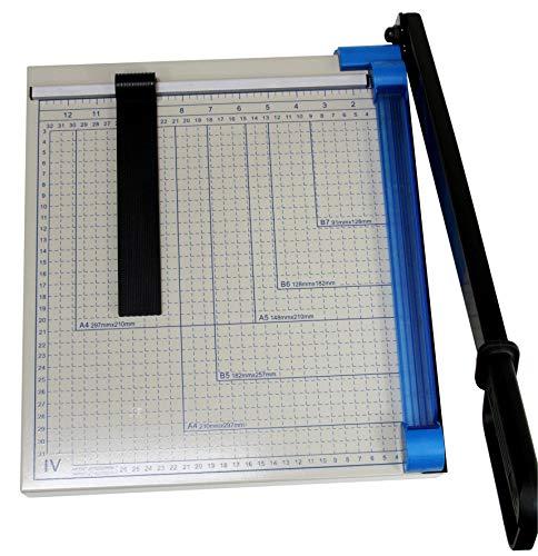 Hebelschneider aus Metall, Papierschneider A4, Schneidemaschine für Foto, Pappe und Papier