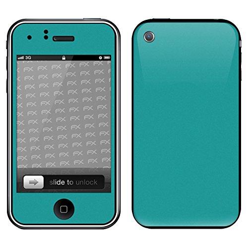 """Skin Apple iPhone 3Gs """"FX-Variochrome-Pearl"""" Designfolie Sticker FX-Soft-Turquoise"""