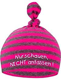 Baby Mütze NUR SCHAUEN - NICHT ANFASSEN / Jungen Babymütze Motiv Hat Mädchen