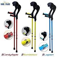 HMS Vilgo Modern Non-Slip Adjustable Colourful Crutches