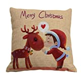 """Amybria quadrato di Natale-Federa cuscino Case-Decorazione da casa dolce-Fodera per cuscino, Motif C, 45cm*45cm/18""""*18"""""""