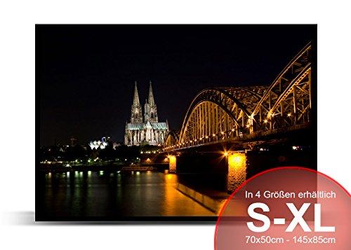 Printalio Skyline Köln – Schmutzmatte Bodenvorleger Fußmatte Türmatte Abtreter Abstreifer gummierter Rand Rutschfest Waschbar Individuell