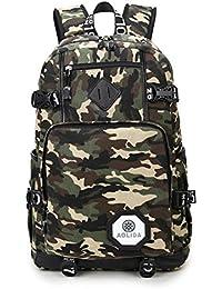 Cute Lightweight Canvas Polka Dot Backpack School Laptop Book Bag Rucksack for Teen Girls or Boys