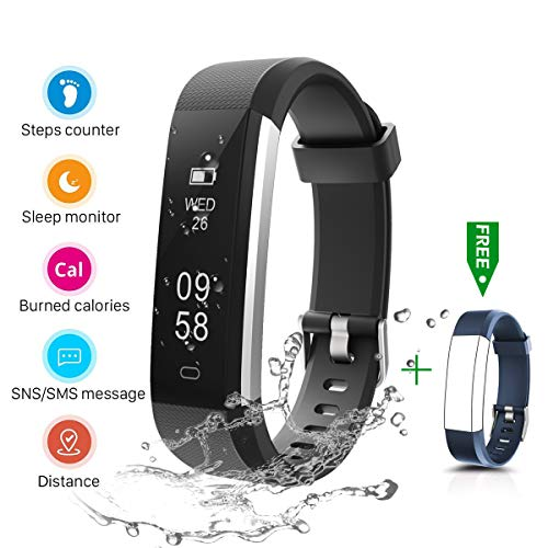 CHEREEKI Fitness Tracker, IP67 Impermeabile Orologio Smartwatch Sleep Monitor Leggi Messaggio da SMS, Whatsapp, Facebook, Skype