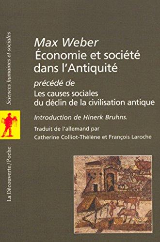 Economie et société dans l'Antiquité par Max Weber
