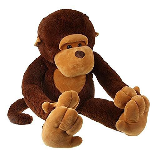 Großer Plüsch-Affe, Tier-Spielzeug, kuschelweicher Orang-Utan für Freunde, Kinder, 129,54 cm