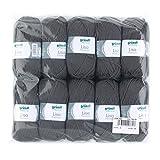 Gründl 760-25 Lisa Premium Wolle, Polyacryl, anthrazit, 32 x 27 x 6 cm